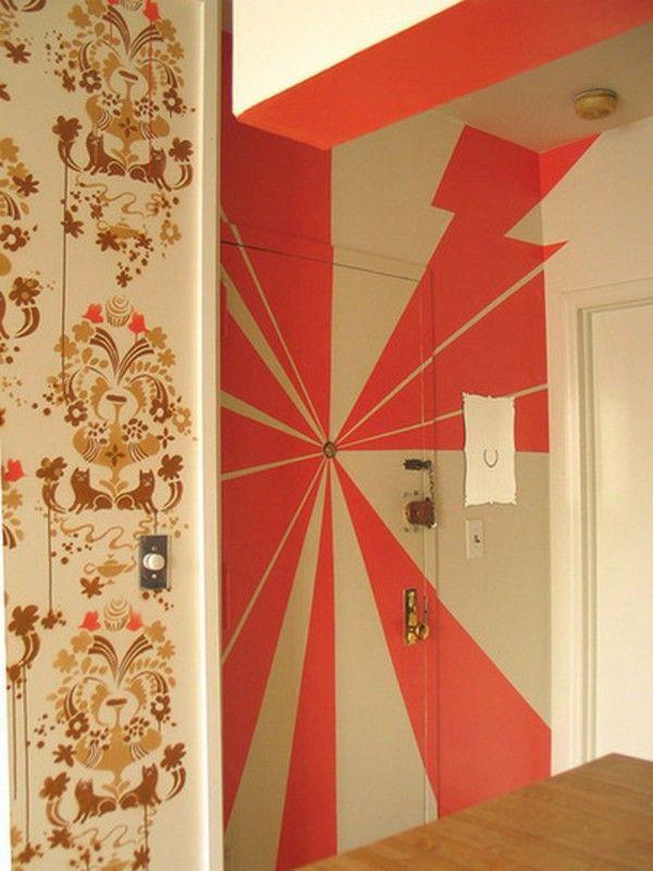 Pintu Luar Dengan Template Warna Oranye