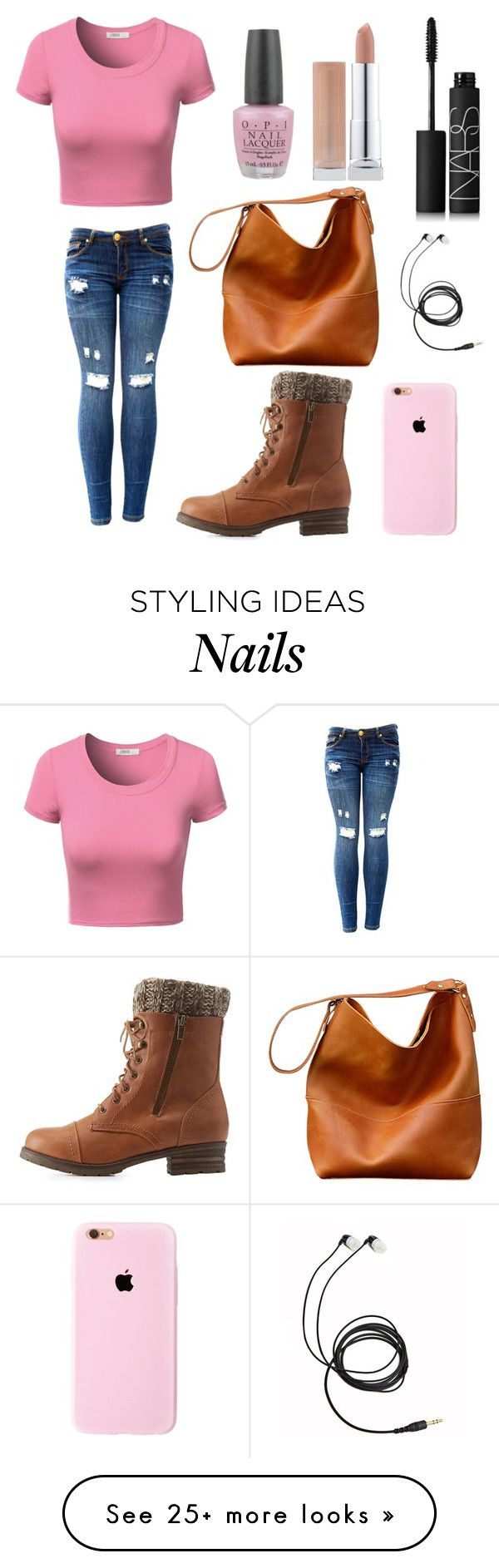 """""""Pink Polish"""" by fashionova1 on Polyvore featuring J.TOMSON, Charlotte Russe, NARS Cosmetics and OPI"""