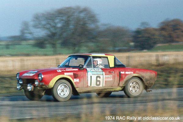 Fiat-Abarth 124 Rallye rally car