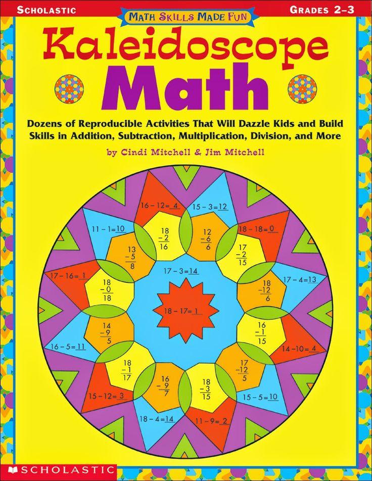 EnAnOSaLTaRíN: KALEIDOSCOPE MATH  Mandalas para colorear resolviendo operaciones matemáticas sencillas (suma, resta, multiplicación y división).