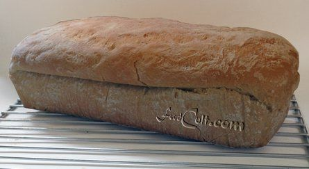 #fresh, #homemade, #organic #Calabrese #bread ... not quite #rustic, this #loaf was #baked in a #loafpan (just until set) and turned early to a #pizzastone to finish giving it that rough look... and a deep, dark, typically #Italian #crust. The #Calabresebread is perfect for #bruschetta, with an #olive #tapenade, a piece of #cheese ... or simply with a little #butter.  - #Food Matters!
