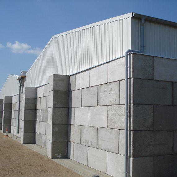 Industrial Buildings Interlocking Concrete Blocks With Steel Roof Constructions Legioblock Roof Construction Interlocking Concrete Blocks Barn Style House