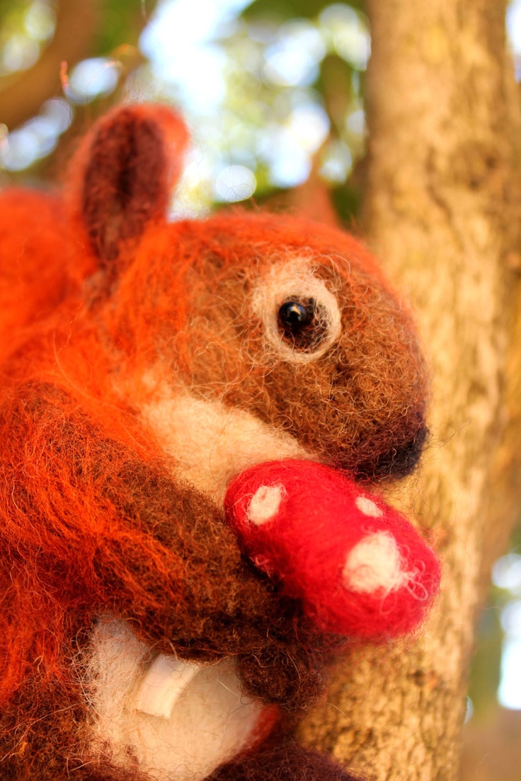 Needle felt: red squirrel