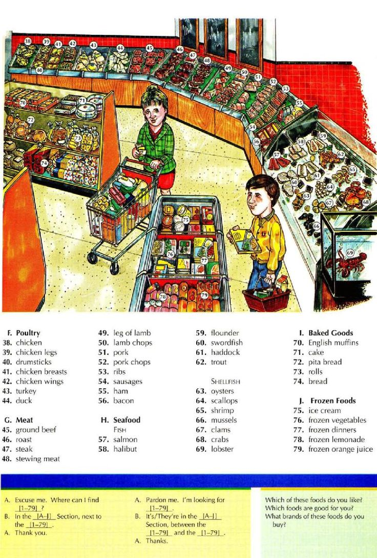 43 - THE SUPPERMARKET 1B - Pictures dictionary - English Study, explanations, free exercises, speaking, listening, grammar lessons, reading, writing, vocabulary, dictionary and teaching materials
