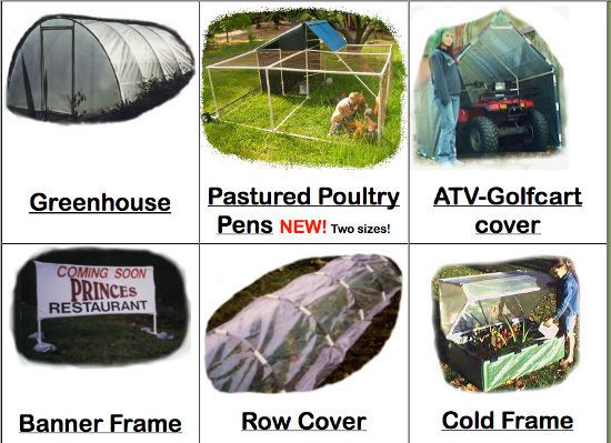 DIY Greenhouse, Banner Frames, Poultry Pens, ATV Carports and More Using These Free PVC Plans