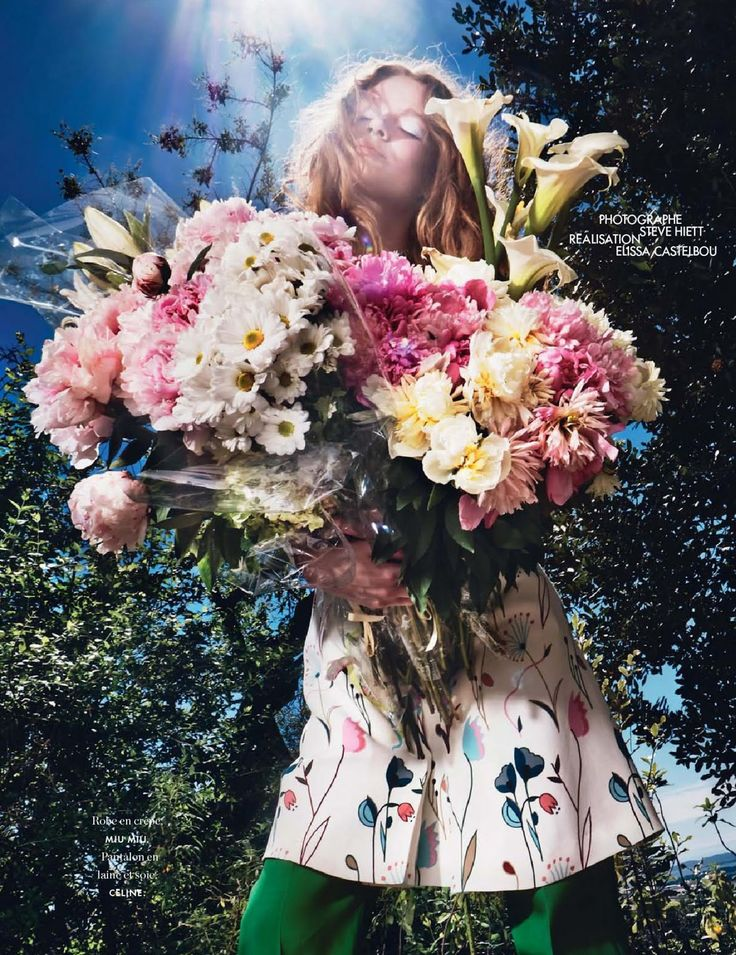 visual optimism; fashion editorials, shows, campaigns & more!: comme une fleur: hollie may saker by steve hiett for elle france 11th july 2014