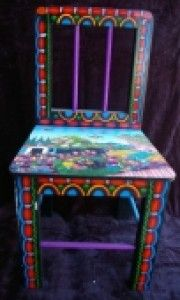 Wonderful Funky Hand Painted Furniture | Hand Painted Childrens Table Chair Sets 491  | Deckss.com