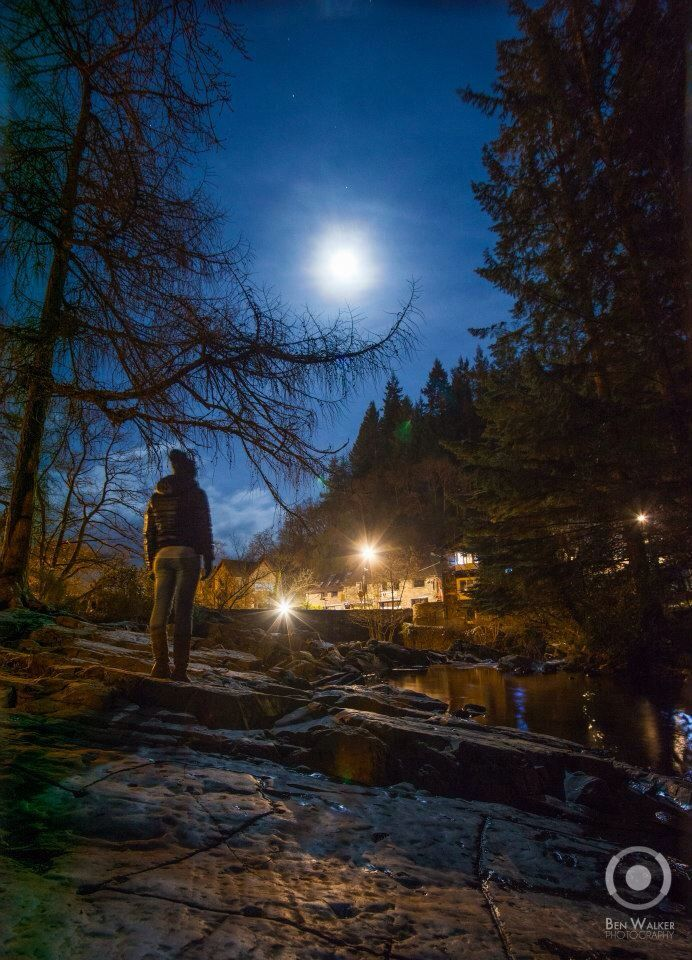 Looking at the moon, Betws Y Coed