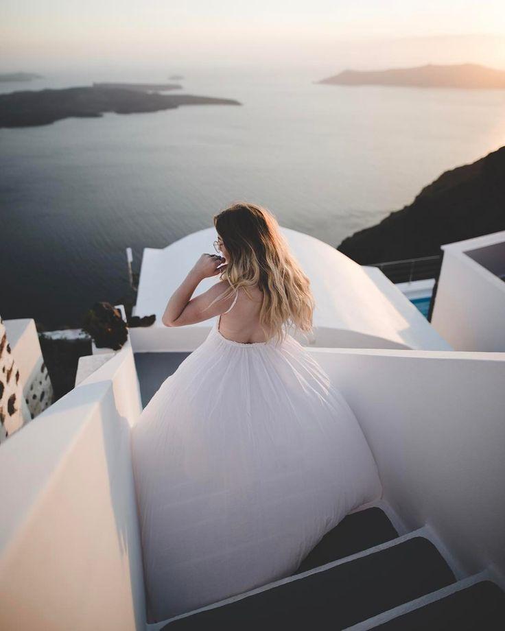 "Samuel Elkins on Instagram: ""Windy evening sunset in Santorini."" • Instagram"