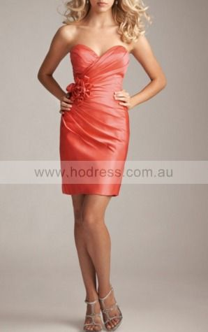 Zipper Short Sheath Natural Sweetheart Wedding Dresses gt3797--Hodress
