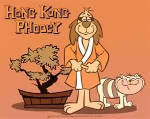 Up at the crack of dawn to watch my favorite cartoon HONG KONG PHOOEY.