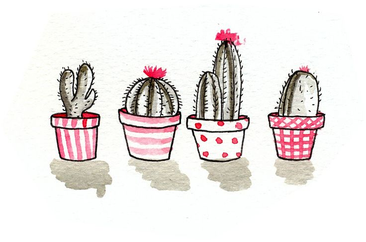 Refletindo, acho que escolhi O PIOR MÊS POSSÍVEL pra querer fazer esse projeto. Tô atolada em mil trabalhinhos, e ainda vou viajar semana que vem. Mas não desistirei! Nem que faça e poste micro desenhos todos os dias, hahaha. Já é alguma coisa :D Cactus, ilustração que estará em algum lugar de um layout que estou fazendo sob encomenda. Usei nanquim diluído (adoro) e aquarelas :D