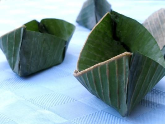 How to Make Banana Leaf Boats for Cooking or Serving: Fill Your Banana Leaf Boats!