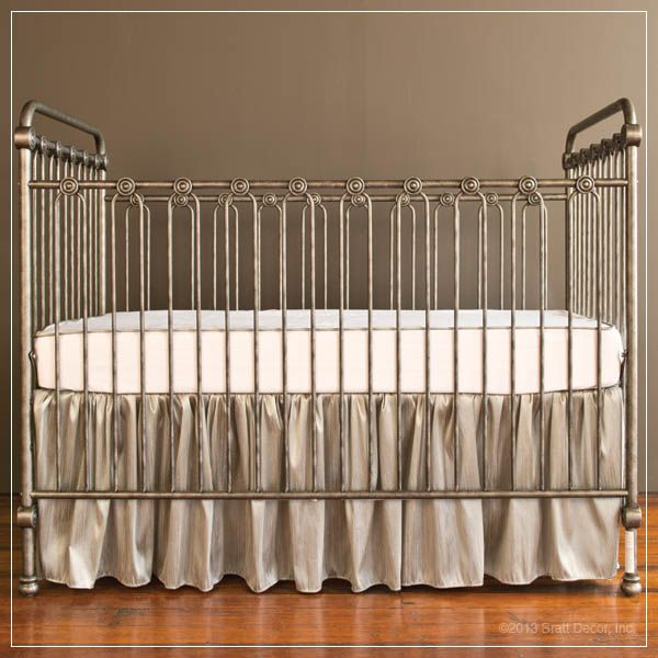 If I had seen this before we bought our crib.... *swoon*  New Bratt Decor Joy Collection Iron Crib! LOVE