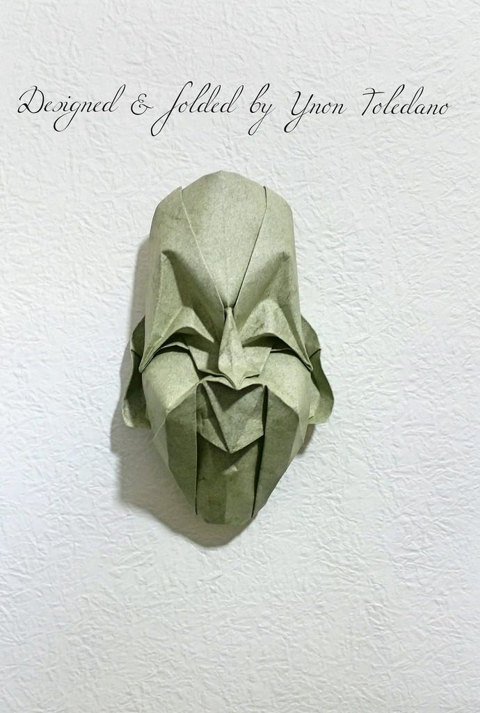 """""""Happy  surprise"""" mask Designed and folded by Ynon Toledano by ynont"""