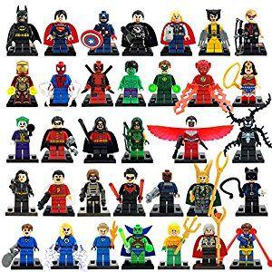 Amazon.com: 34pcs/lot Marvel DC Super Heroes Minifigures Avengers Iron Man Batman Building Blocks Sets Model Bricks Toys: Home & Kitchen