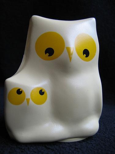 Vintage Owls Figurine