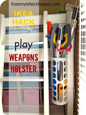 ikea hack, grocery bag holder into lightsaber / weapon holder