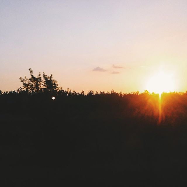 Bye. #sunset #izmir #iphoneonly #vsco #vscocam #sun #summer #followme #ozdere #özdere #hot #bye