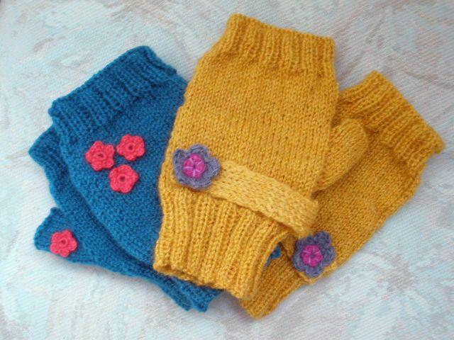 Tutorial guanti senza dita a ferri dritti | I guanti più cool dell'inverno a maglia in vari colori | FOTO