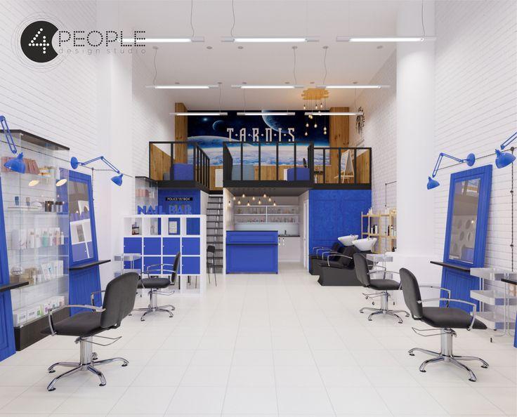 """Interior creative beauty salon """"TARDIS"""""""