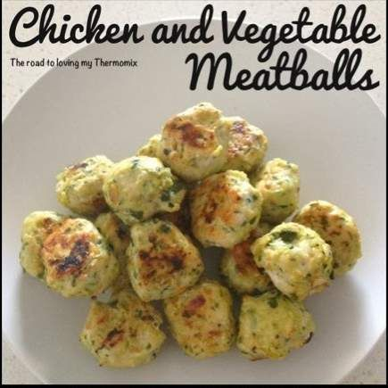 Recipe Chicken and Vegetable Meatballs by theroadtolovingmythermomix - Recipe of category Starters