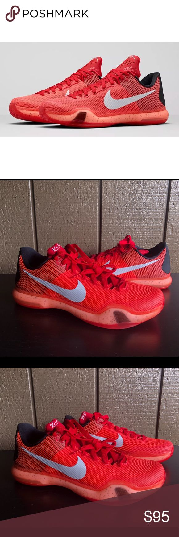 Nike Kobe X Majors Low Basketball Shoes Sz 10.5 Nike Kobe X Majors Low Basketball Shoes Men's Size 10.5 Red Crimson 705317-616   Brand : Nike   Style Code : 795317-616   Color : Red Crimson   Size : US Men's 10.5   100% Authentic   Brand new. No box. Never worn Nike Shoes Athletic Shoes