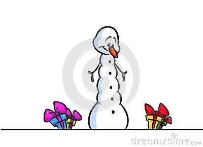 Christmas snowman amaze great gift cartoon illustration isolated image character
