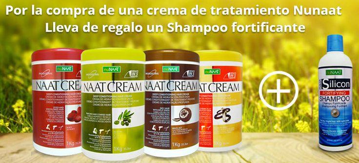 Máscaras de tratamiento Nunaat + un shampoo silicon fortificante por $10.990 http://tienda.cabellosyhierbas.cl/promociones/promo-nunaat/