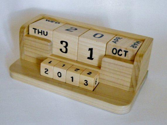 Calendar Wooden Blocks : Best calendars images on pinterest wood blocks