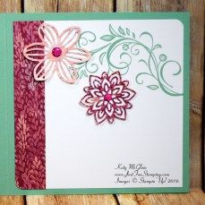 Falling Flowers, Flourishing Phrases, Birthday Blossoms, Stampin' Up!
