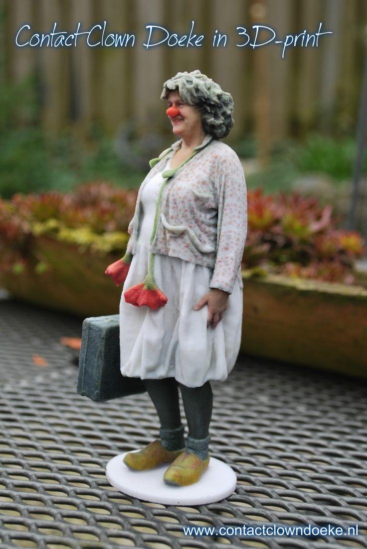 een 3D print van Contact Clown Doeke, een clown in de zorg. www.contactclowndoeke.nl