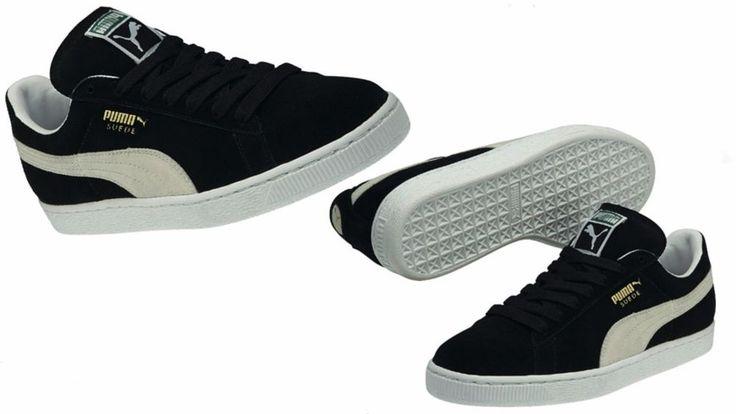 Puma Men's Suede Classic Eco Black-White 352634-03 #PUMA #35263403
