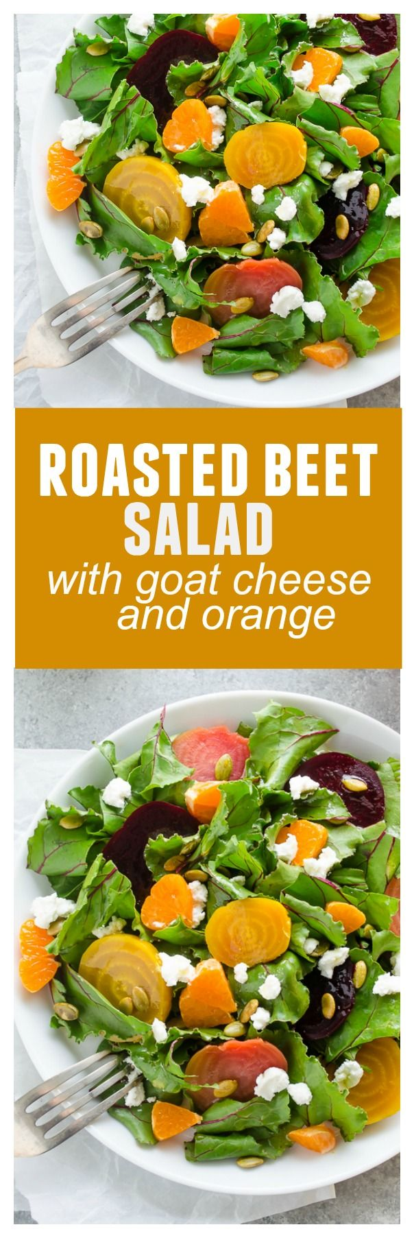 Roasted Beet Salad with Goat Cheese and Orange is sweet roasted beets ...