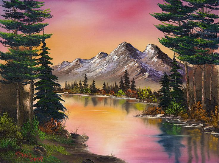 Landscape Painting - Mountain Fantasy by C Steele