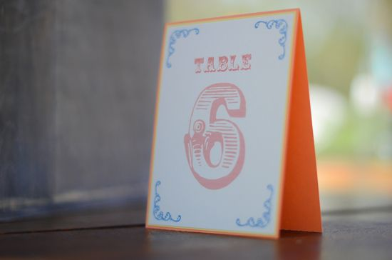 carnival wedding table number  http://designsbymcs.wix.com/invitations