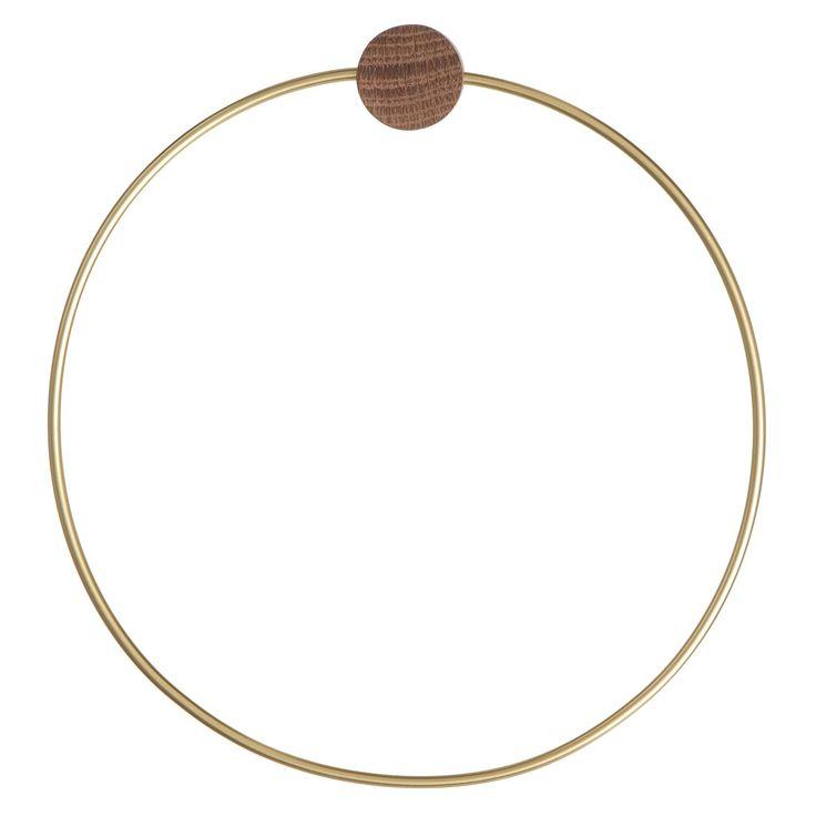 Brass hängare, circle i gruppen Inredningsdetaljer / Badrumsinredning / Övrig badrumsinredning hos RUM21.se (129486)
