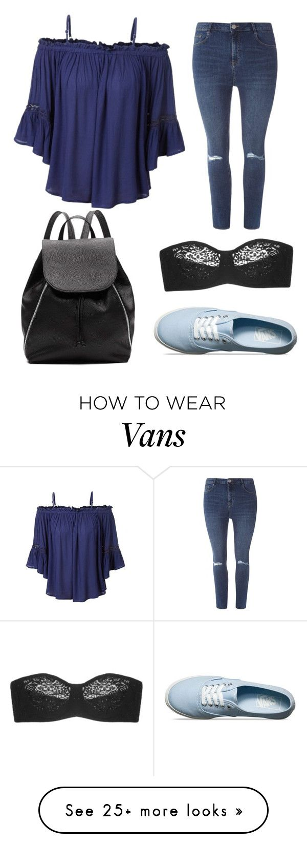 """Untitled #47"" by bunnygirl21 on Polyvore featuring LE3NO, Dorothy Perkins, Vans, Wacoal and Witchery"