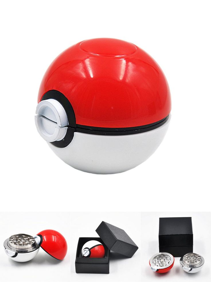 [Visit to Buy] Pokeball Pokemon Herb Weed Grinder Mill Pipe Tobacco Smoking Utensils Smoke Detectors Pipes Grinding Smoke Narguile Smoke #Advertisement