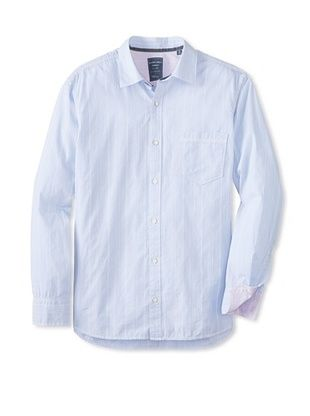 62% OFF Cooper Jones Men's Kensington Stripe Long Sleeve Woven Shirt (Soft Blue)