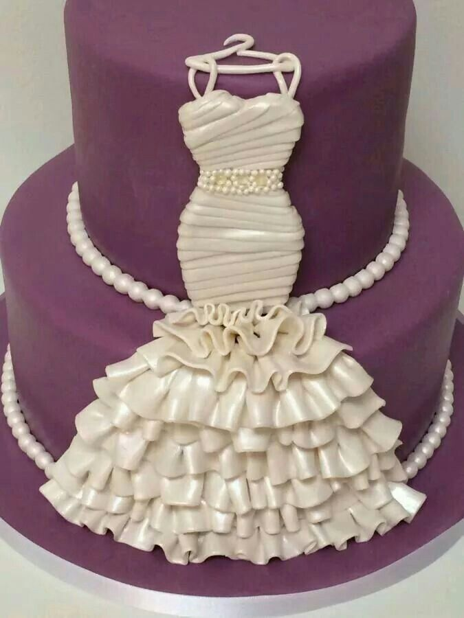 """Bridal Shower Cake - For all your cake decorating supplies, please visit <a href=""""http://www.craftcompany.co.uk"""" rel=""""nofollow"""" target=""""_blank"""">www.craftcompany.co.uk</a>"""