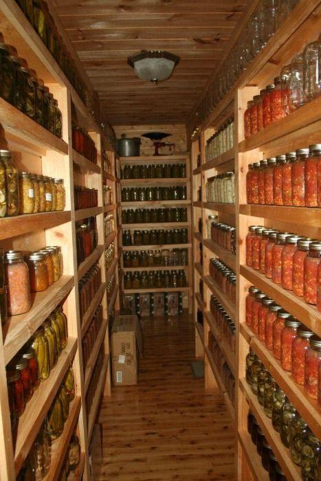 organizing pint quart jars for canning