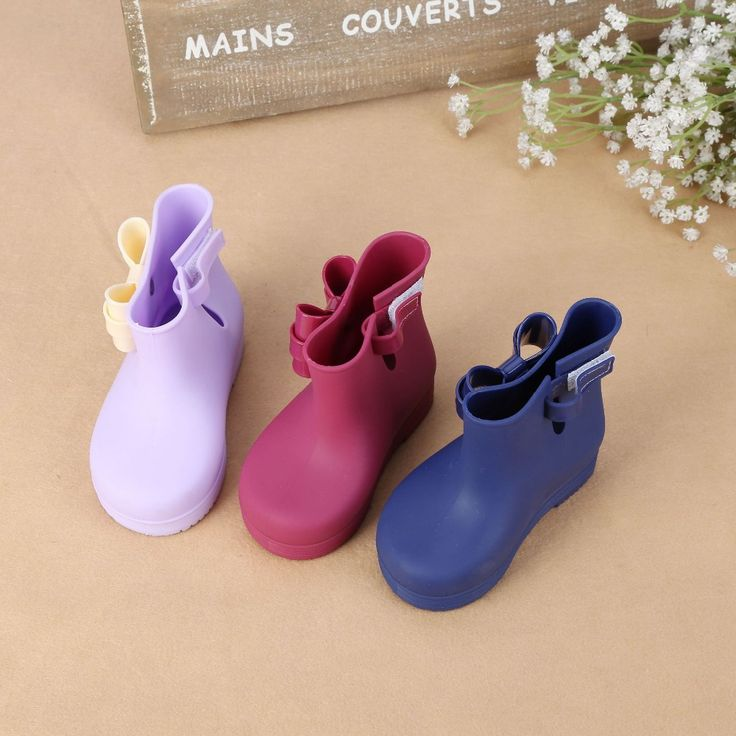 Melissa Children Spring Autumn Girls Baby Kids Rain Boots With Bow Waterproof Shoes Rubber Boots Jelly Soft Infant shoe