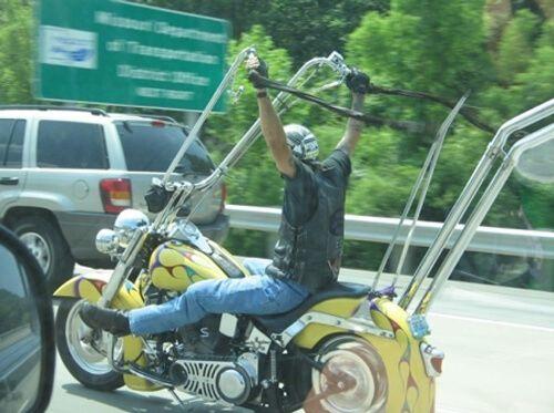 Ape Hanger Motorcycle