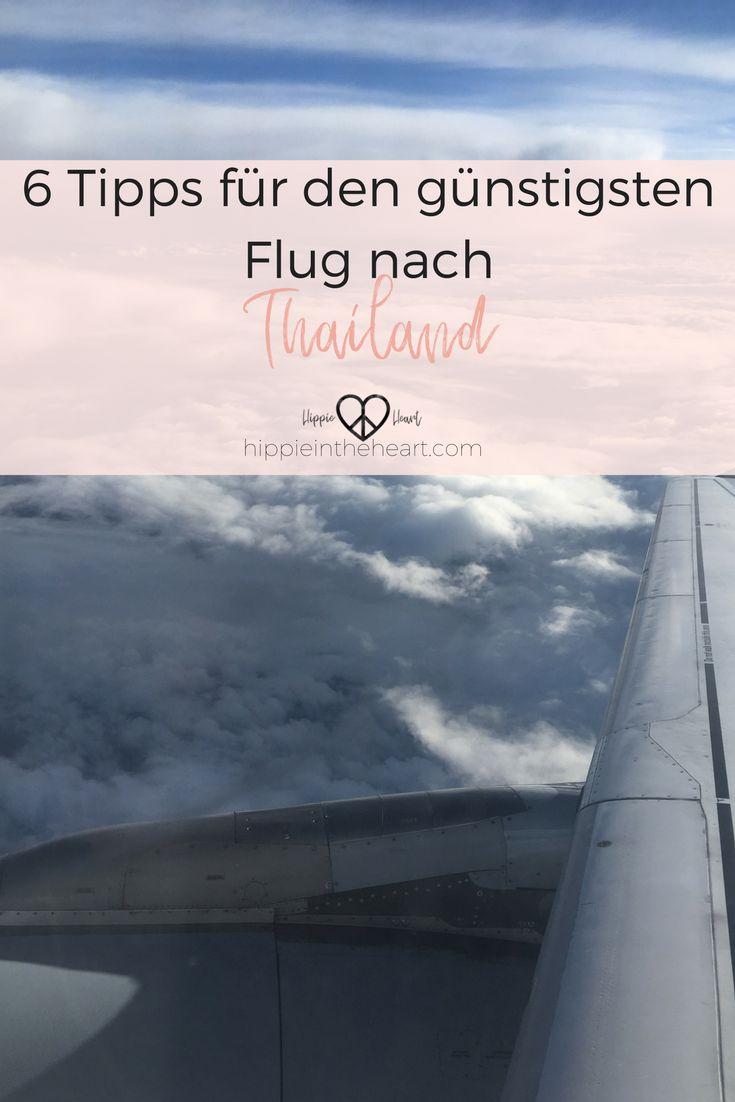 6 Tipps für den günstigsten Flug nach Thailand. So findest du den besten und günstigsten Flug nach Thailand. Schau dir diese Flugspartipps an und finde den perfekten Flug für dich. #thailand #flug #backpacking #backpackingthailand #thailandreise
