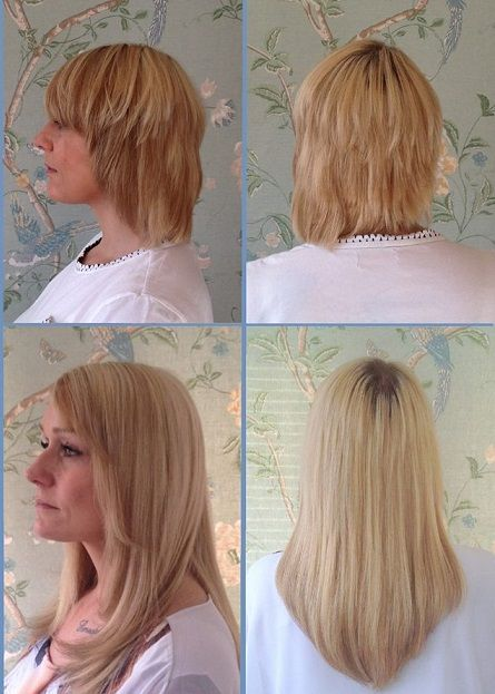 11 best short hair extensions images on pinterest hairstyle hair extensions for short hair before and after very short thick hair is extended with a full head of genuine european hair pmusecretfo Image collections