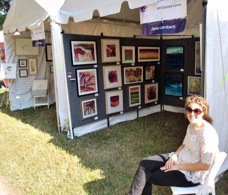 MPAartfest Tent Jana Lamberti Silk Art