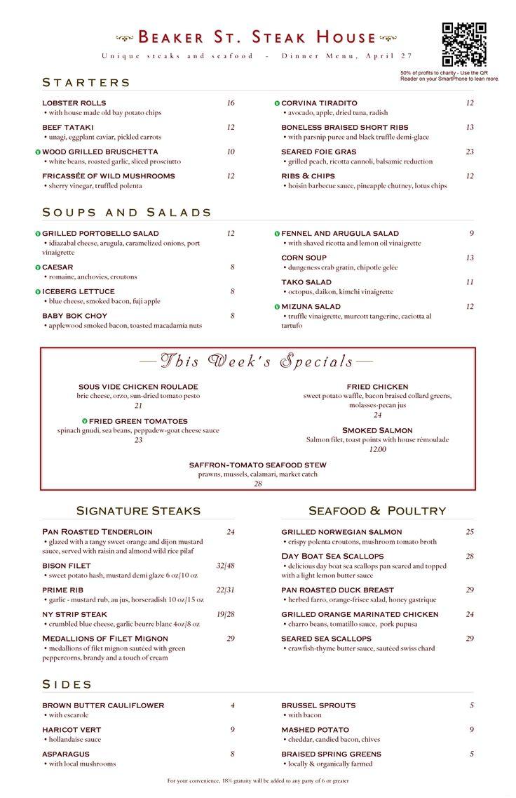 Ideas about restaurant menu design on pinterest
