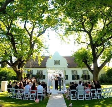 $45000 ($=ZAR) Hawksmoor House weddings incl. B&B for 15 guests