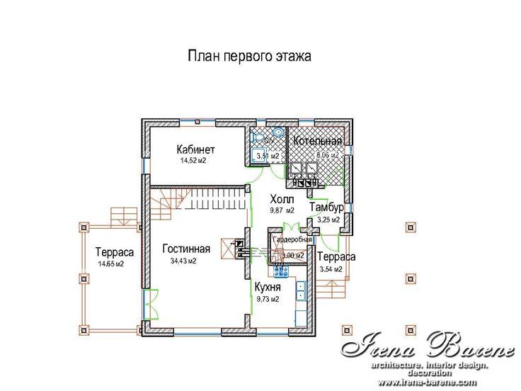 Проект «Оливия». План 1-го этажа